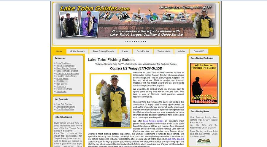 Lake Toho Guides Website