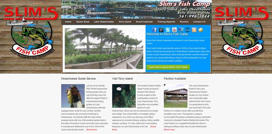 Slims Fish Camp Website